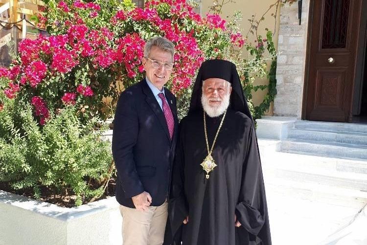 Ο Πρέσβης των Ηνωμένων Πολιτειών της Αμερικής κ. Geoffrey Pyatt στην Ερμούπολη