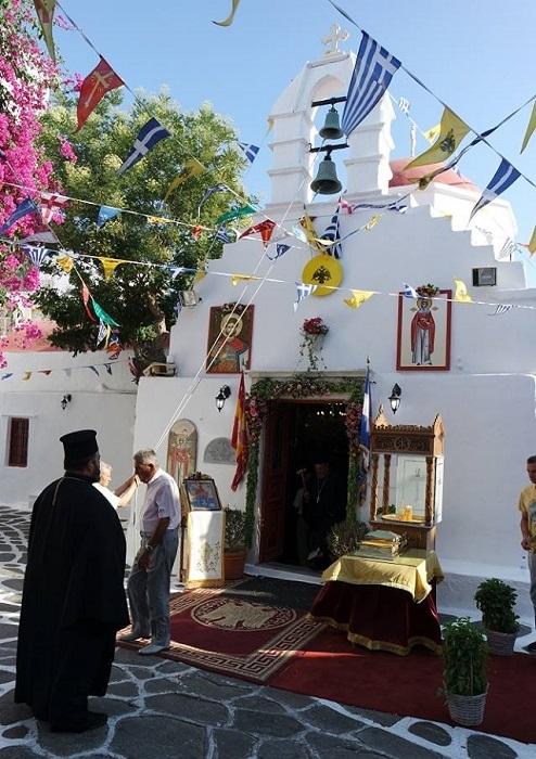 Ιερά Πανήγυρις Ιερού Ναού Αγίας Κυριακής Μυκόνου