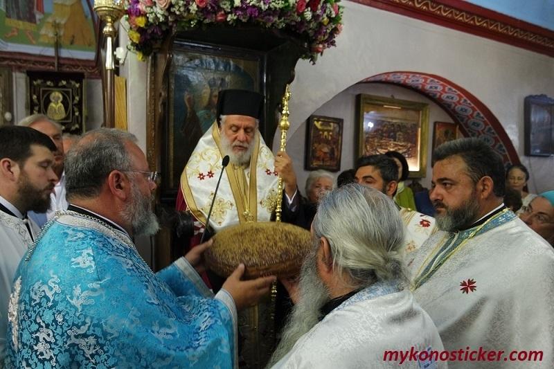 Μέγας Πανηγυρικός Αρχιερατικός Εσπερινός στον Ιερό Ναό Αγίας Κυριακής Μυκόνου (εικόνες-βίντεο)