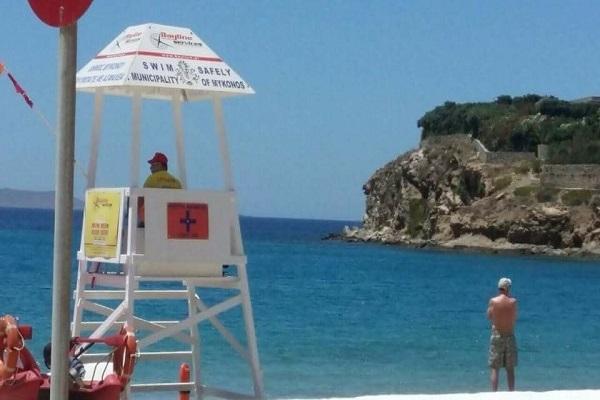 Ναυαγοσωστική κάλυψη με επαγγελματίες και τεχνικό εξοπλισμό σε 12 παραλίες της Μυκόνου (εικόνες)